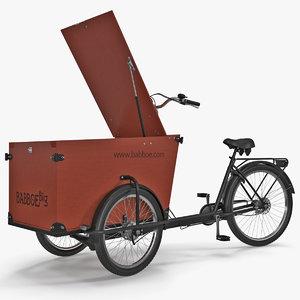 3D babboe transporter cargo bike