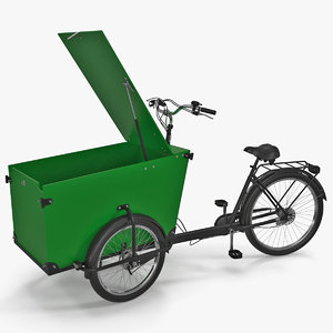 cargo bike rigged 3D model