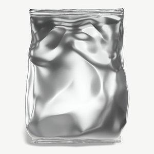3D potato chip bag