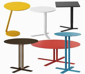 3D set tables model