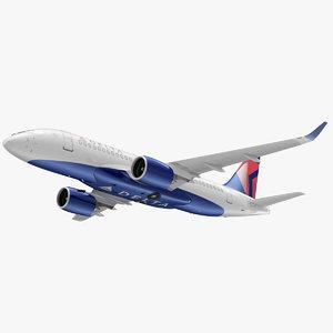 airbus a220 100 delta 3D model