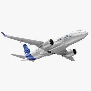 3D model airbus a220 100 interior