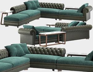 3D corner sofa chester line