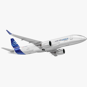 airbus a220 300 simple 3D