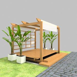 pergola 2 3D model