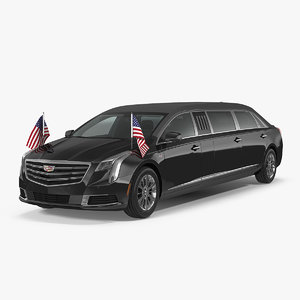 presidential limousine cadillac ss 3D
