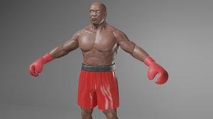 3D boxer boxing model