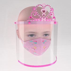 3D medical face shield crown model