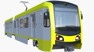 los angeles metro train 3D model