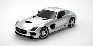 3D coupe mercedes-benz sls amg model