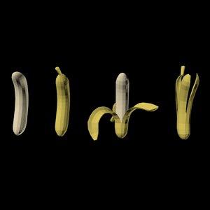 3D bananas 01 model
