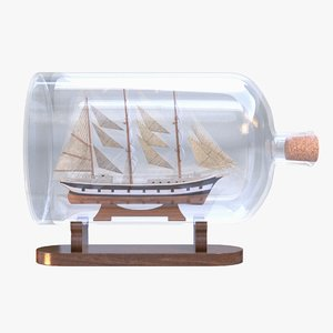 3D model ship bottle decoration