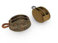 Double sailing block (pulley)