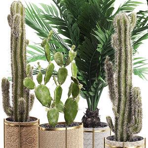 3D potted plants set 20 model