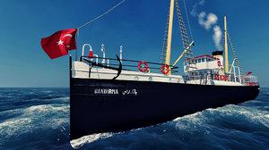 bandirma ferry 19 3D model