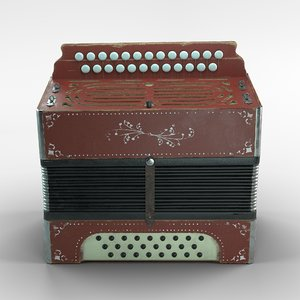 3D model accordion classic