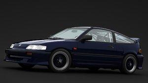 honda crx 1990 3D