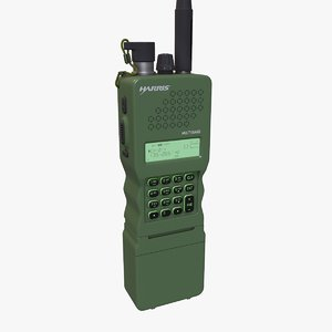 3D military walkie talkie