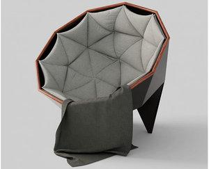 3D husk chair lounge