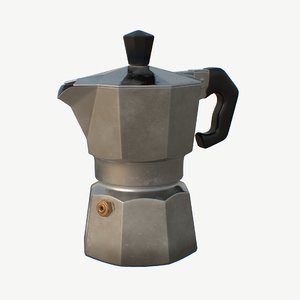 3D moka pot coffee