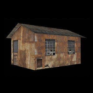 3D model rusty country house