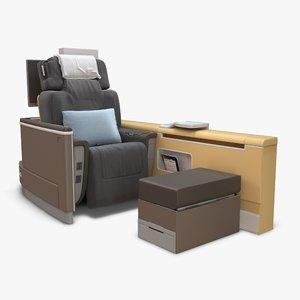 lufthansa 1st class seats 3D model