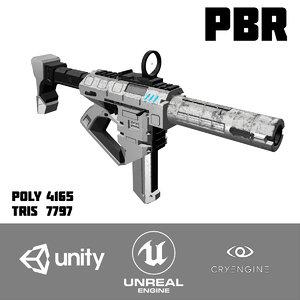 unity cryengine pbr 3D model