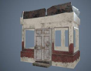 3D pubg shack