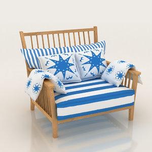 3D seat armchair chair furniture