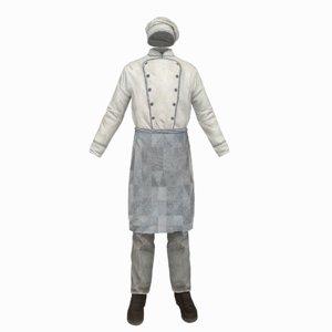 cook clothes 3D model