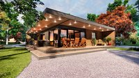 vacation residential modern house zaja Low-poly 3D model