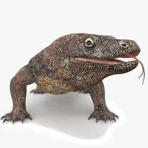 3D komodo dragon rigged