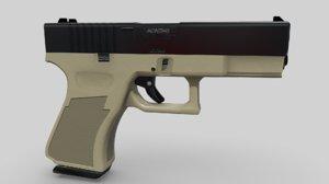 3D 9mm modified pistol model