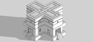 3D model las iglesias talladas en
