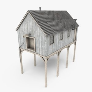 3D ready suspended barn