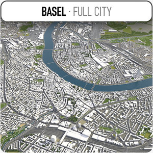3D model basel surrounding -
