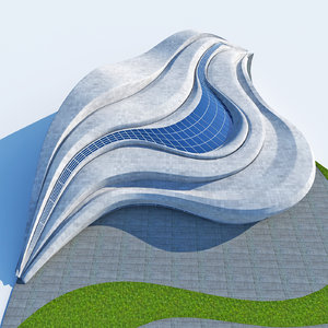 3D organic building urban city model