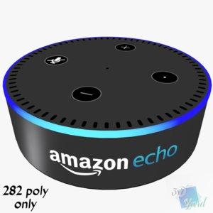 3D amazon echo dot