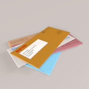 mail paper letter 3D model