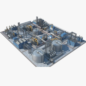 industrial area 07 3D model