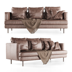 3D leather lounge sofa model