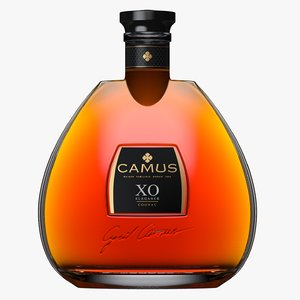 camus xo cognac bottle 3D model