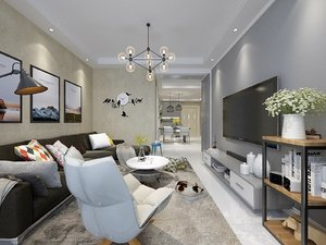 3D model living dining rooms
