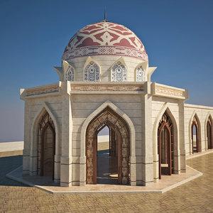 design arabic building 3D model
