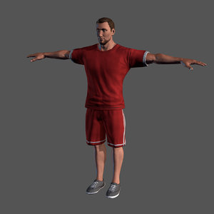 character rigged man 3D
