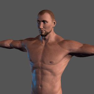 3D man character rigged