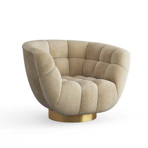 3D essex swivel armchair