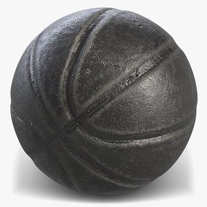 3D basketball black 4