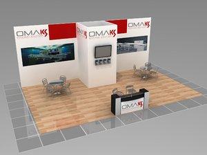 modular fair stand 3D