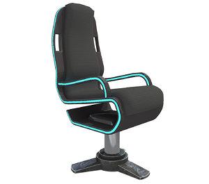 3D sci fi chair